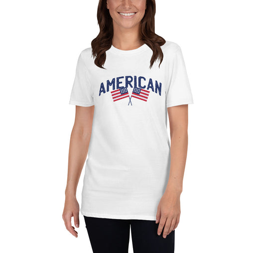 Two American Flag Women's T-Shirt