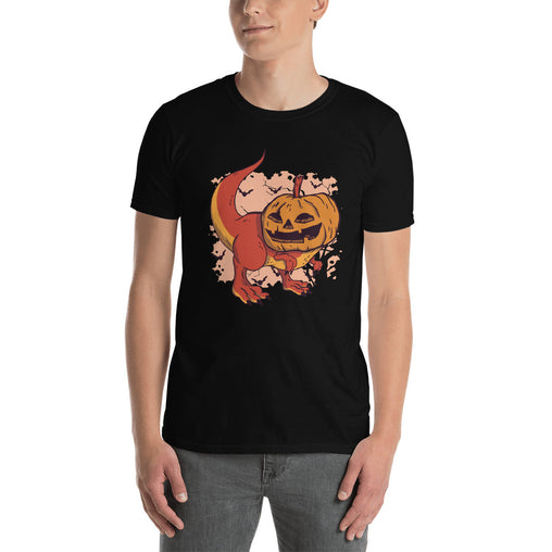 Pumpkin Dinosaur Men's T-Shirt
