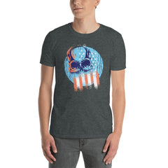 USA Patriotic Skull Men's T-Shirt