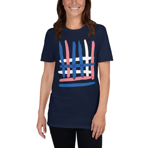 Abstract Overlapped Women's T-Shirt