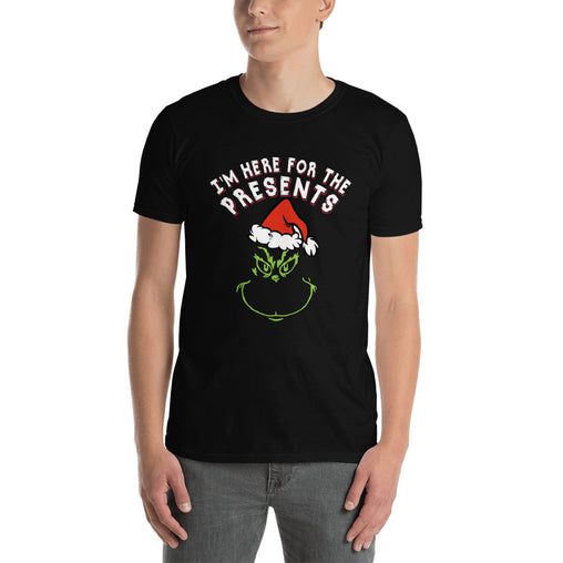 Grinch - I'm Here For The Present Men's Christmas T-Shirt