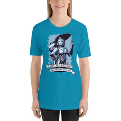 Not All Witches Are Skinny Bitches Women's T-Shirt MatchingStyle.com Aqua S