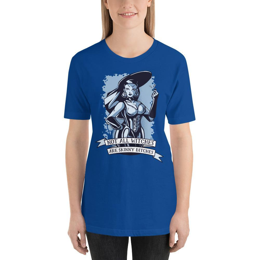 Not All Witches Are Skinny Bitches Women's T-Shirt MatchingStyle.com True Royal S