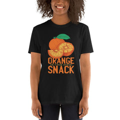 Orange Snack Women's T-Shirt MatchingStyle.com Black S