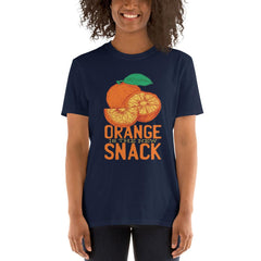 Orange Snack Women's T-Shirt MatchingStyle.com Navy S