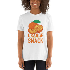 Orange Snack Women's T-Shirt MatchingStyle.com White S