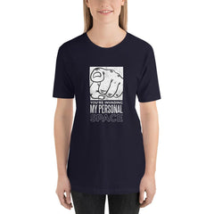 Personal Space Women's T-Shirt MatchingStyle.com Navy S