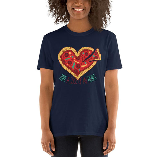 Pizza Heart Women's T-Shirt MatchingStyle.com Navy S