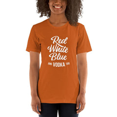 Red White Blue Vodka Women's T-Shirt MatchingStyle.com Autumn S