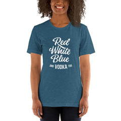 Red White Blue Vodka Women's T-Shirt MatchingStyle.com Heather Deep Teal S