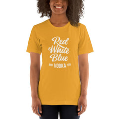 Red White Blue Vodka Women's T-Shirt MatchingStyle.com Mustard S