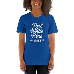 Red White Blue Vodka Women's T-Shirt MatchingStyle.com True Royal S