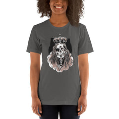 Skeleton Queen Scary Halloween Women's T-Shirt MatchingStyle.com Asphalt S