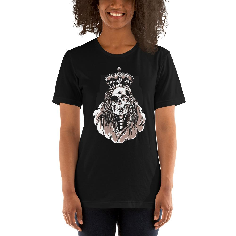 Skeleton Queen Scary Halloween Women's T-Shirt MatchingStyle.com Black S