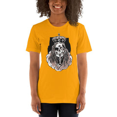 Skeleton Queen Scary Halloween Women's T-Shirt MatchingStyle.com Gold S