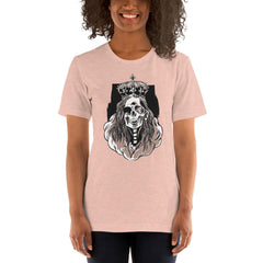 Skeleton Queen Scary Halloween Women's T-Shirt MatchingStyle.com Heather Prism Peach S