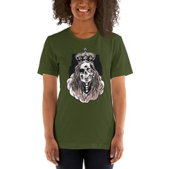Skeleton Queen Scary Halloween Women's T-Shirt MatchingStyle.com Olive S