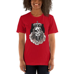 Skeleton Queen Scary Halloween Women's T-Shirt MatchingStyle.com Red S