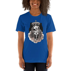 Skeleton Queen Scary Halloween Women's T-Shirt MatchingStyle.com True Royal S