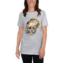Skull Covering Ears Women's T-Shirt MatchingStyle.com Sport Grey S