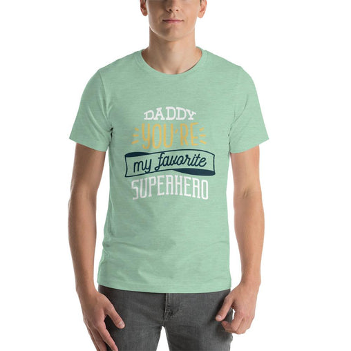 Superhero Dad Men's T-Shirt MatchingStyle.com Heather Prism Mint S