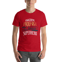 Superhero Dad Men's T-Shirt MatchingStyle.com Red S