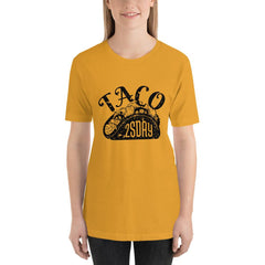 Taco Tuesday Women's T-Shirt MatchingStyle.com Mustard S