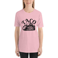 Taco Tuesday Women's T-Shirt MatchingStyle.com Pink S
