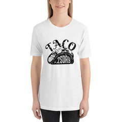 Taco Tuesday Women's T-Shirt MatchingStyle.com White S