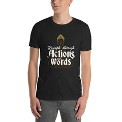 Triumph Quote Women's T-Shirt MatchingStyle.com Black S