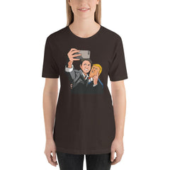 Trudeau Trump Women's T-Shirt MatchingStyle.com Brown S