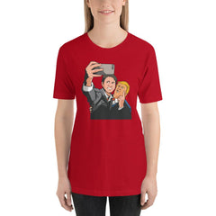 Trudeau Trump Women's T-Shirt MatchingStyle.com Red S