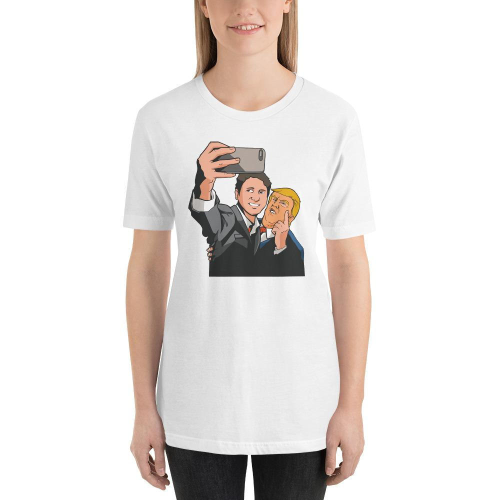 Trudeau Trump Women's T-Shirt MatchingStyle.com White S