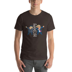 Trump Peace Men's T-Shirt MatchingStyle.com Brown S
