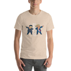 Trump Peace Men's T-Shirt MatchingStyle.com Heather Dust S