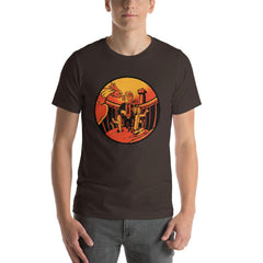 Trump Wall Men's T-Shirt MatchingStyle.com Brown S