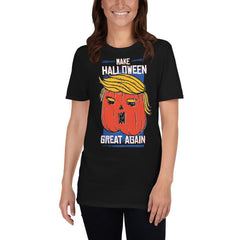 Trumpkin Pumpkin Halloween Women's T-Shirt MatchingStyle.com Black S