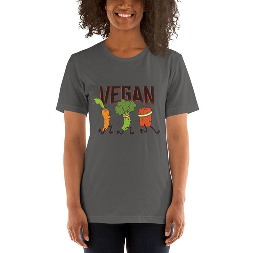 Vegan Women's T-Shirt MatchingStyle.com Asphalt S