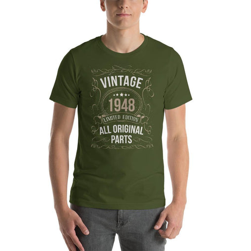 Vintage 1948 Limited Edition All Original Parts Men's T-Shirt MatchingStyle.com Olive S