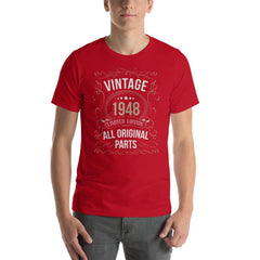 Vintage 1948 Limited Edition All Original Parts Men's T-Shirt MatchingStyle.com Red S