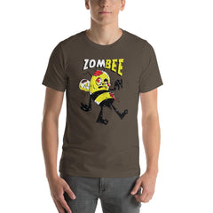 Zombie Bee Scary Halloween Men's T-Shirt MatchingStyle.com Army S