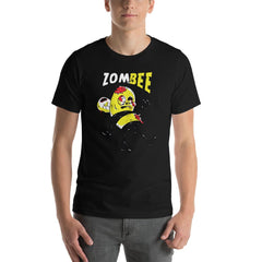 Zombie Bee Scary Halloween Men's T-Shirt MatchingStyle.com Black S