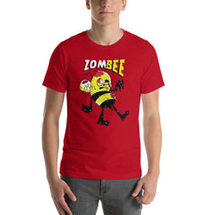 Zombie Bee Scary Halloween Men's T-Shirt MatchingStyle.com Red S