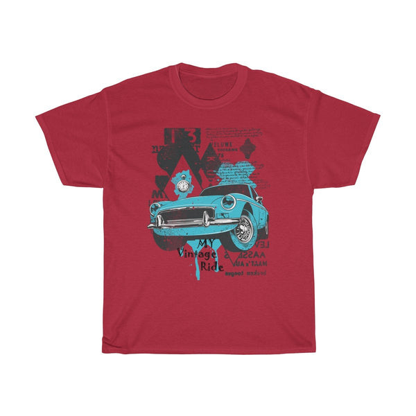 Vintage Car Design Unisex Cotton T-Shirt - Sportifiers.com