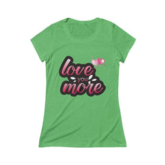 Love You More Triblend Short Sleeve Tee - Sportifiers.com