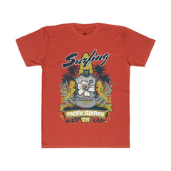Pacific Surfing Design Fitted T-Shirt - Sportifiers.com