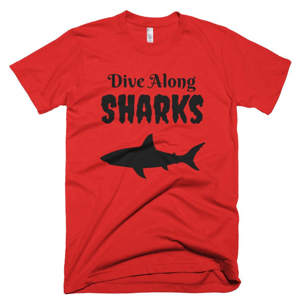 Dive Along Sharks T-Shirt - Sportifiers.com