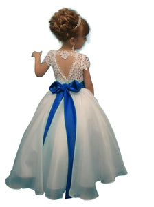 Lace Flower Girl Dresses Princess Kids Ball Gown Pageant Dress PFD133