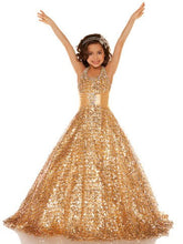 Gold Sequins Flower Girl Dresses Girls Pageant Gown ALD049