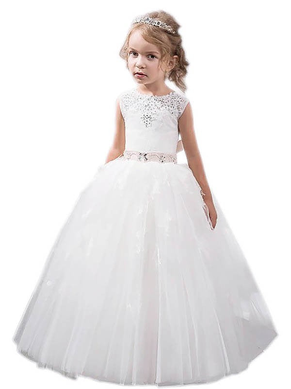 Princess Ball Gown for Kids Flower Girl Dress Pageant Gown ALD055
